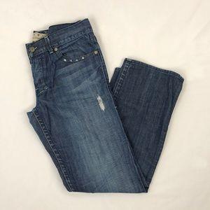 William Rast Rob Straight Leg Distressed Jeans